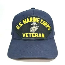 U.S. Marine Corps Veteran Embroidered Patch Hat Baseball Cap Adjustable ... - $16.82