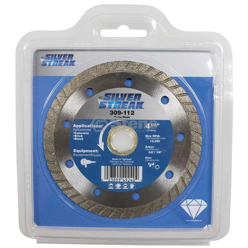 Stens 309-112 Silver Streak Turbo Blade Cut-Off Saw For angle grinders