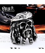 BEIER Drop Ship Punk 316L Stainless Steel Pirate Captain Ring Bad Ass Me... - $12.67