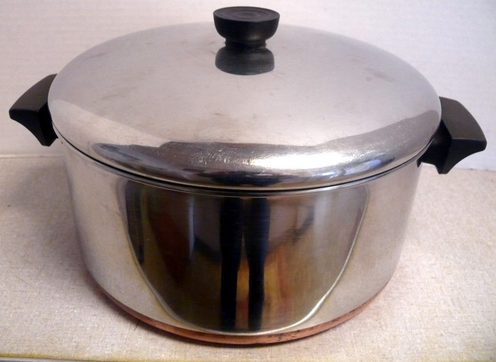 Revere Ware 6 Qt Stock Pot Stainless/Copper P107