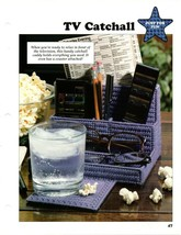 Plastic Canvas Patterns - TV Catchall & Birthday Hang-Up - Just For Fun - $1.50