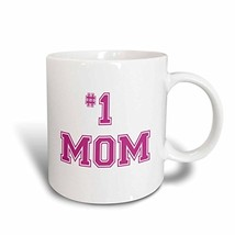 3dRose mug_151622_1 1 Mom Number One Mom in Hot Pink Large Print Text fo... - $9.91