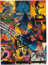 1995 Fleer Ultra X-Men Set Promo Card with Wolverine, Gambit, Cable, Arc... - $6.45