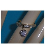 Technibond Heart Charm CZ Simulated Diamond Rin... - $39.97