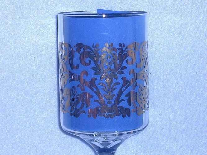 Libbey Gold Filigree Wine Glasses 8 1/4 inches Tall