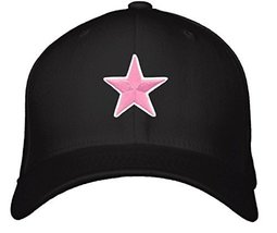 Pink Star Hat - Adjustable Black Cap - $15.79