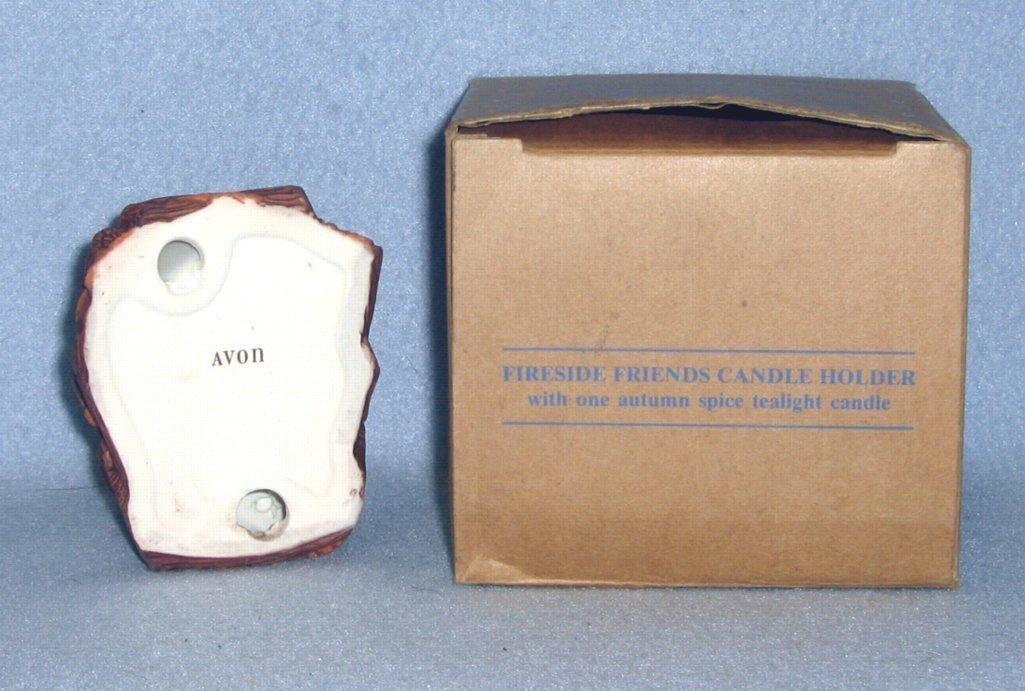 Avon Fireside Friends Candle Holder Autumn Spice Candle