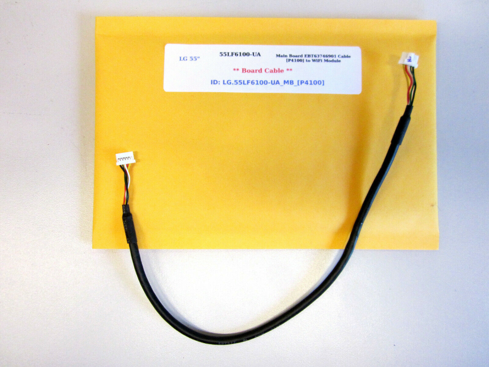 "Primary image for LG 55"" 55LF6100-UA-BUSYL.JR Main Board EBT63746901 Cable [P4100] to WiFi Module"