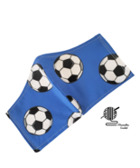 Kids Face Mask Soccer Balls Blue Sports Fitted Facemask Handmade USA - $12.95