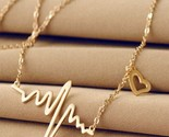 Ress for less necklace one size gold heart beat chain women necklace 1400039342111 thumb155 crop