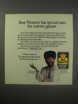 1990 Best Western Motel Ad - Yakov Smirnoff - Best Western has special rates - $14.99