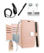 LG Q7 / Q7 Plus Blister Rose Gold Flip Flap Pouch Magnetic Wallet Case C... - $12.99