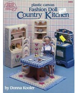Fashion Doll Country Kitchen for Barbie Plastic Canvas PATTERN/INSTRUCTIONS - $6.46