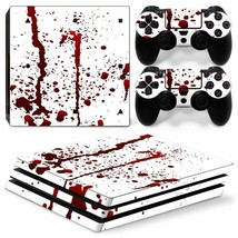 Bloody Horror Sony PS4 PRO Console & 2 Controllers Decal Vinyl Skin Wrap Sticker - $14.82