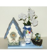 Friends R Special Vase Birdhouse Frog in Boat Trinket Box 62 - $15.00