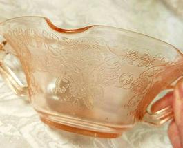 Old Vintage 30s Florentine #1 Pink Depression by Hazel Atlas Cream Soup Nut Bowl image 7