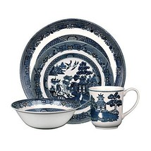 Johnson Brothers 40034958 Willow 4 Piece Place Setting, blue and white - $31.69