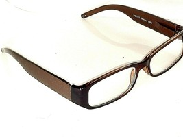 +2.00 Womens Foster Grant Deep Brown Reading Glasses w Lace Designer Stems &Case - $6.81