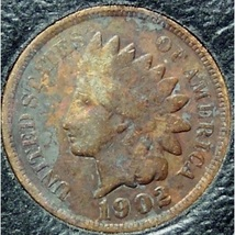 1902 Indian Head Cent VG PARTIAL LIBERTY #0524 - $1.99