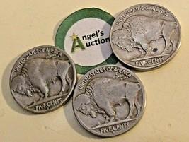 Buffalo Nickel 1936 P, 1936 D and 1936 S  AA20BN-CN6096