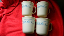 Corelle Corning First Of Spring Glass Beige Coffee Cups X 4 Free Usa Ship Read - $16.82