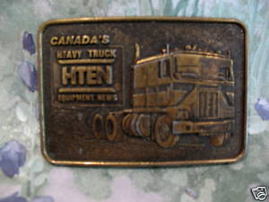 HTEN Equipment Canada Heavy Truck Belt Buckle Collectible Vintage Souvenir
