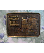 HTEN Equipment Canada Heavy Truck Belt Buckle Collectible Vintage Souvenir - $14.95