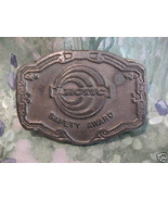 Arctic Safety Award Belt Buckle Collector Souvenir Vintage Collectible  - $14.95