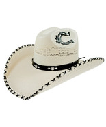 Men's Western Hat Rio Bravo Sombrero 20X Horseshoe Horma Texas Bangora Bone - €44,89 EUR