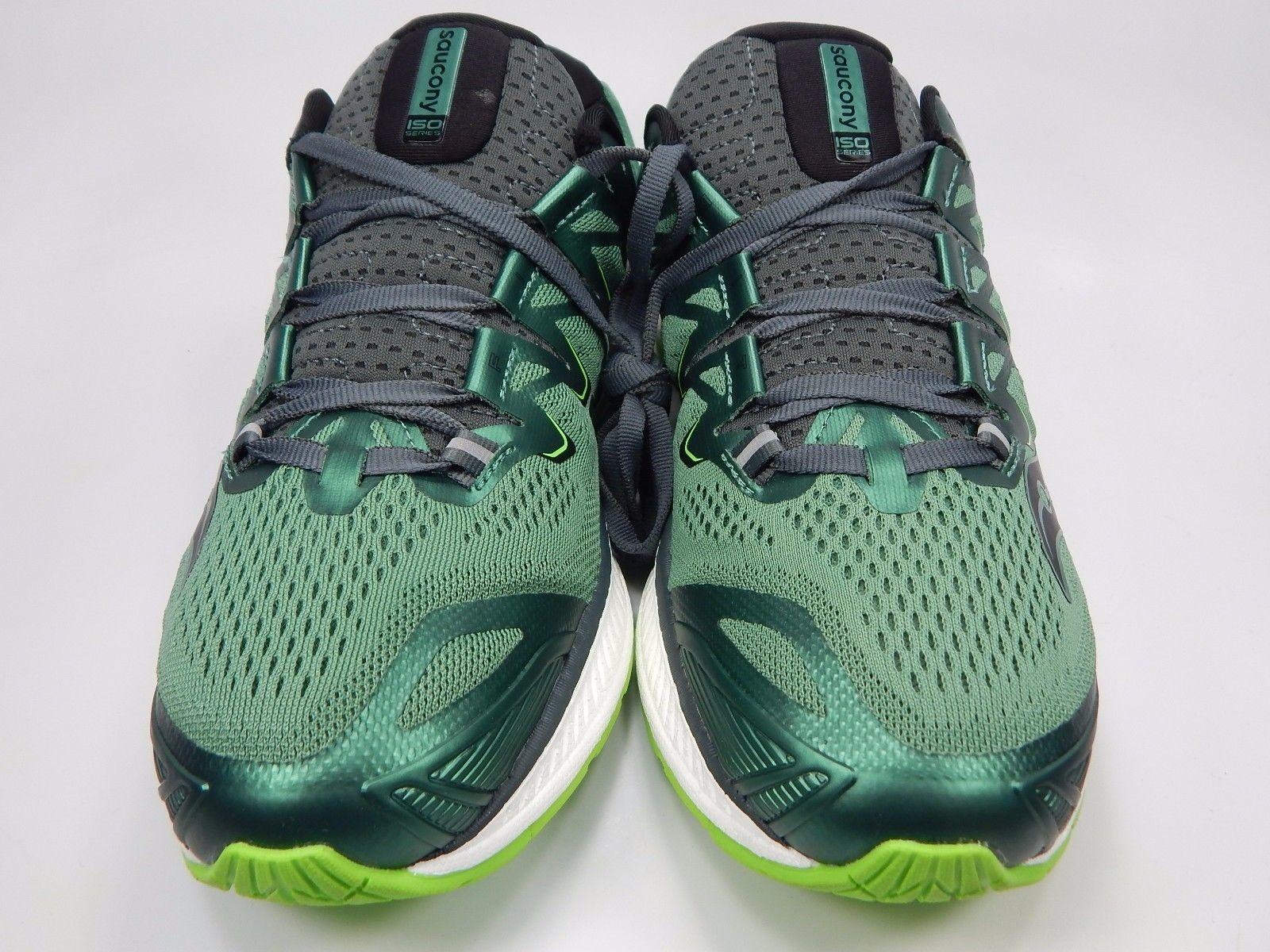 Saucony Triumph ISO 4 Men's Running Shoes Size US 9 M (D) EU 42.5 Green S20413-3