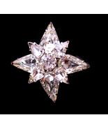 Signed Albert Weiss rhinestone pin - brilliant star pin-  Starburst Rhin... - $95.00