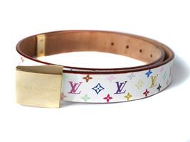 Auth LOUIS VUITTON Sun Tulle Carree Monogram Canvas Multi-Color Belt LB1... - $269.00