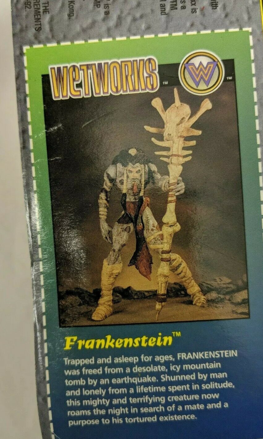 Wetworks Green Frankenstein (McFarlane, 1996) Ultra Action Figure Battle Staff