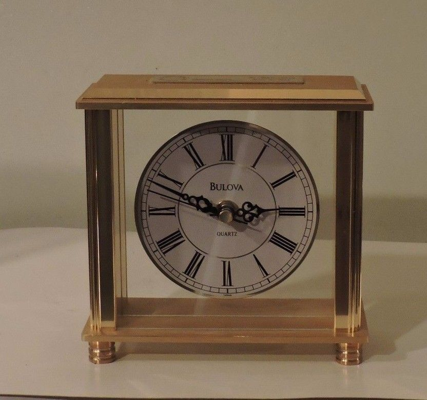 Bulova B1703 Cheryl Brass Table Clock - $24.75