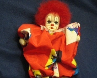 "Collectible Q-Tee 7"" Sand Filled Circus Clown"