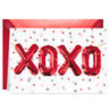 XOXO Balloons Valentine's Day Card With Envelope  - $7.99