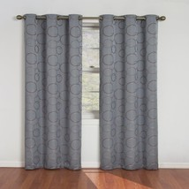 Eclipse Meridian 95-Inch Blackout Window Curtain Panel, River Blue - $15.82