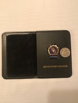 NYC. Detective Thin Blue Line  Mini Shield  Leather Wallet ID (FRIEND) - $21.78