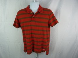 American Eagle Outfitters Red and gray  Striped  Polo Shirt   Pre-owned - $12.77