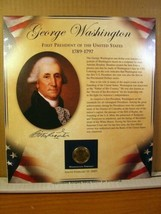 George Washinton United States Presidents Coin Postal Commemorative Society - $8.09