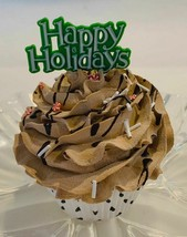 Fake Christmas Cupcake Chocolate Green - fake home decoration prop - $8.41