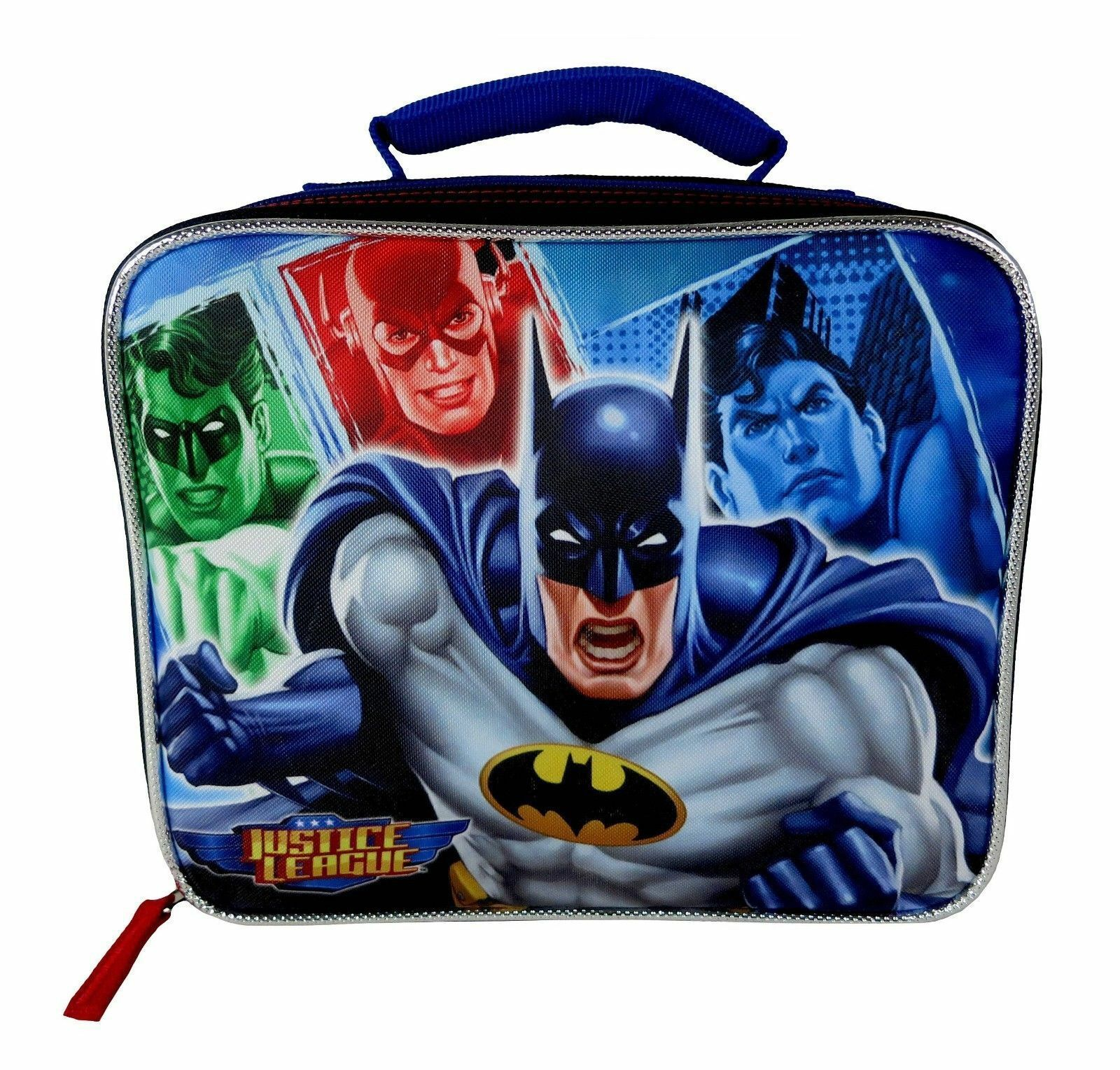 NEW Justice League Batman Dc Comics Boys Insulated Lunch Tote Box Kit