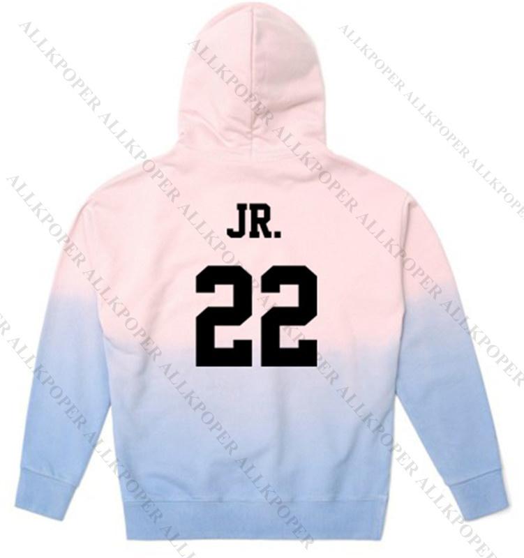 KPOP GOT7 Gradient Cap Hoodie Sweater Unisex Jackson Sweatershirt Bambam Coat JB