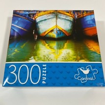 """Fishing BOATS 300 Piece Jigsaw Puzzle 14"""" x 11"""" NEW FAST/FREE SHIPPING - $9.45"""