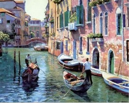 USA - DIY Paint by Number Kit Acrylic Painting Home Decor - Italian Boat... - $18.80