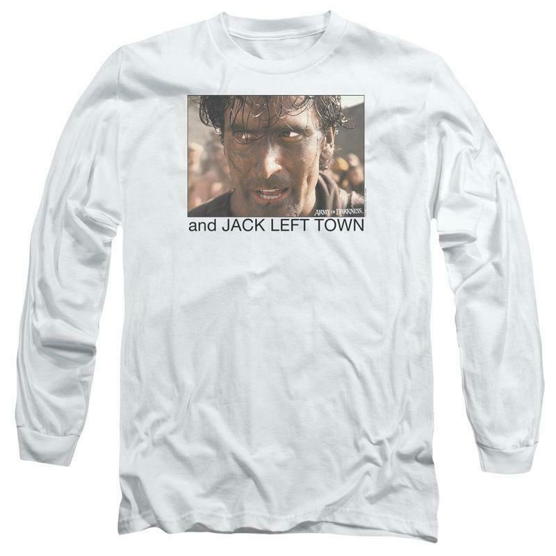 Army of Darkness Evil Dead Jack Left Town Ash Williams Long Sleeve Tee MGM167
