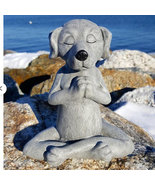 Dog Buddha Meditation, Dwarf Miniature, Garden supplies, Figurines, Gnome - $21.30