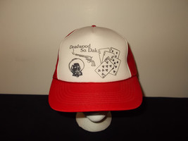 VTG-1980s Deadwood South Dakota Old West Poker Custer Wyatt Earp hat sku34 - $27.83