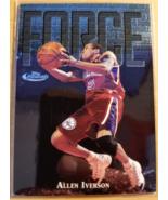 Allen Iverson 1997-98 Topps Finest Embossed #143 NBA Philadelphia 76ers ... - $5.00