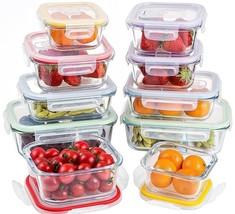 Jalousie 20 Pieces NEW Borosilicate Glass Food Storage Meal Saver Contai... - $59.24